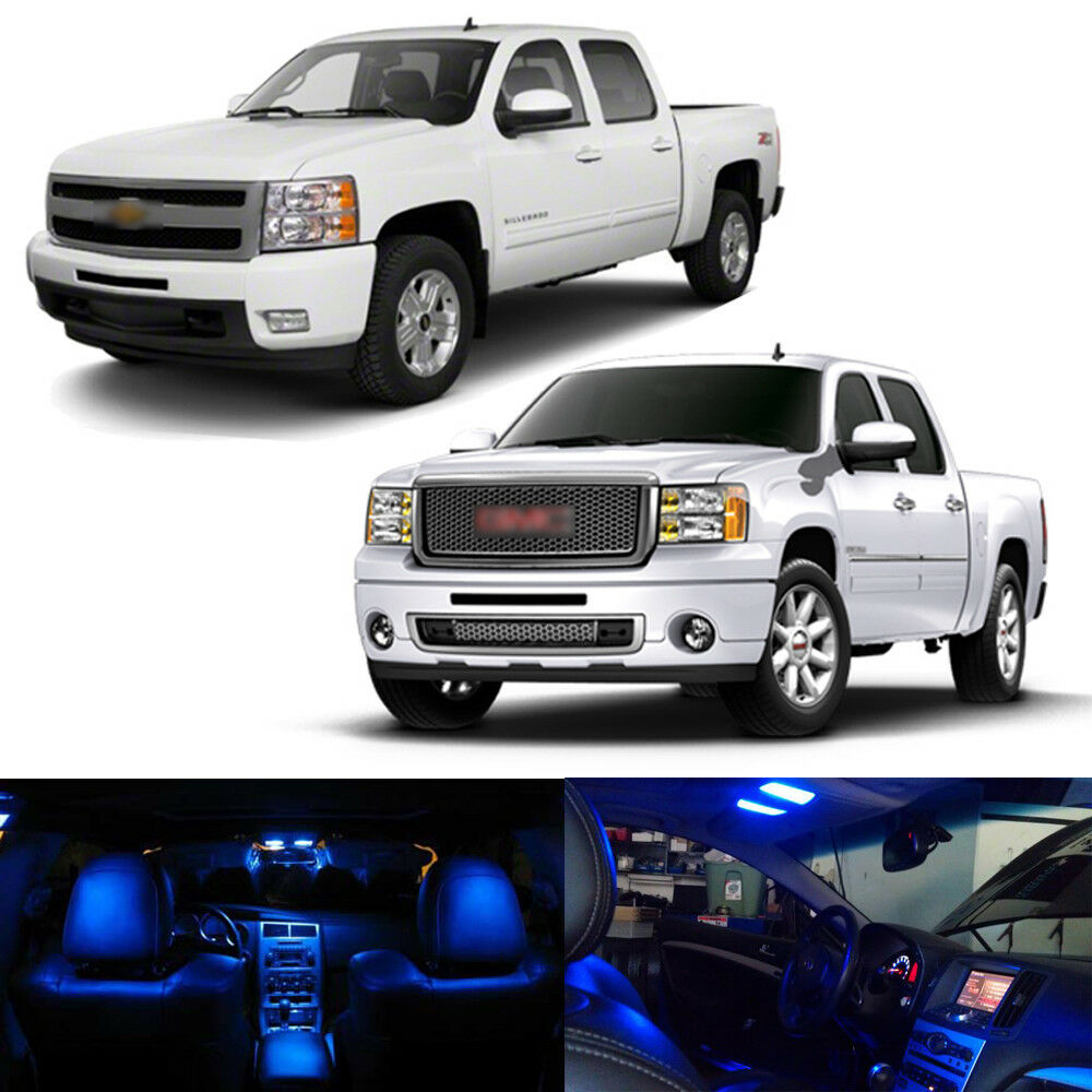 9 X Ultra Blue Smd Led Interior Lights Package Kit For 2009 2014 Ford F150 Ebay