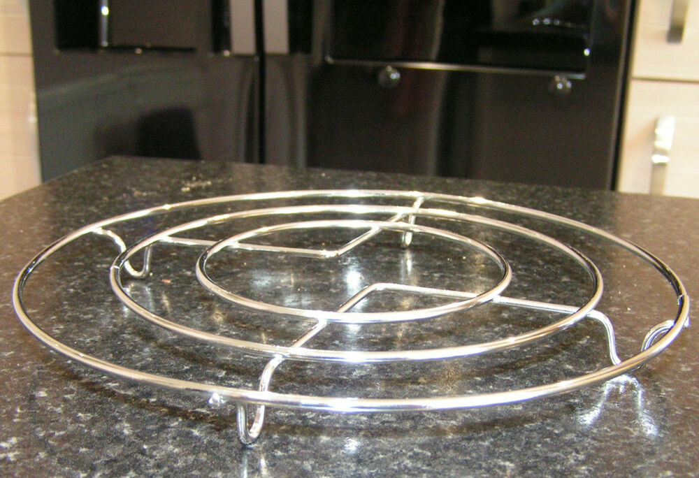 Chrome Trivet Hot Pan Pot Stand Worktop Table Surface