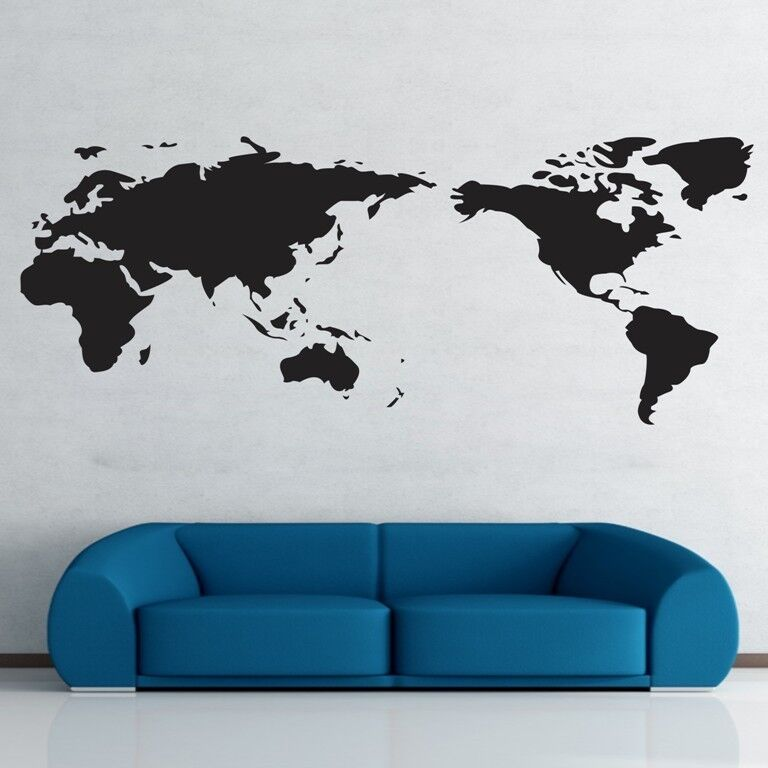world map wall stickers art vinyl decal home decor removable
