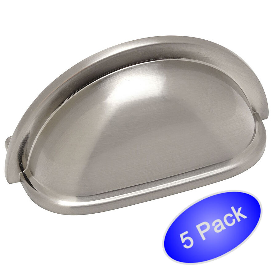 *5 Pack* Cabinet Hardware Brushed Satin Nickel Pulls ...