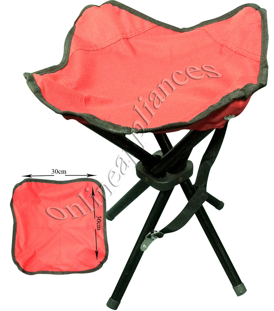 Portable Heavy Duty 4 Legs Camping Stool Folding Chair