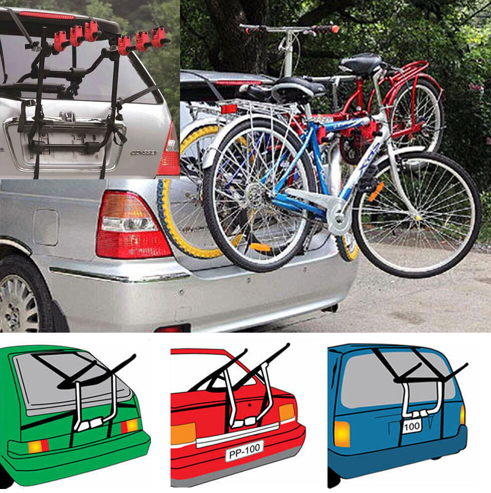 Bicycle carrier fits most universal cars rear mount 2 3 for Is a bicycle considered a motor vehicle