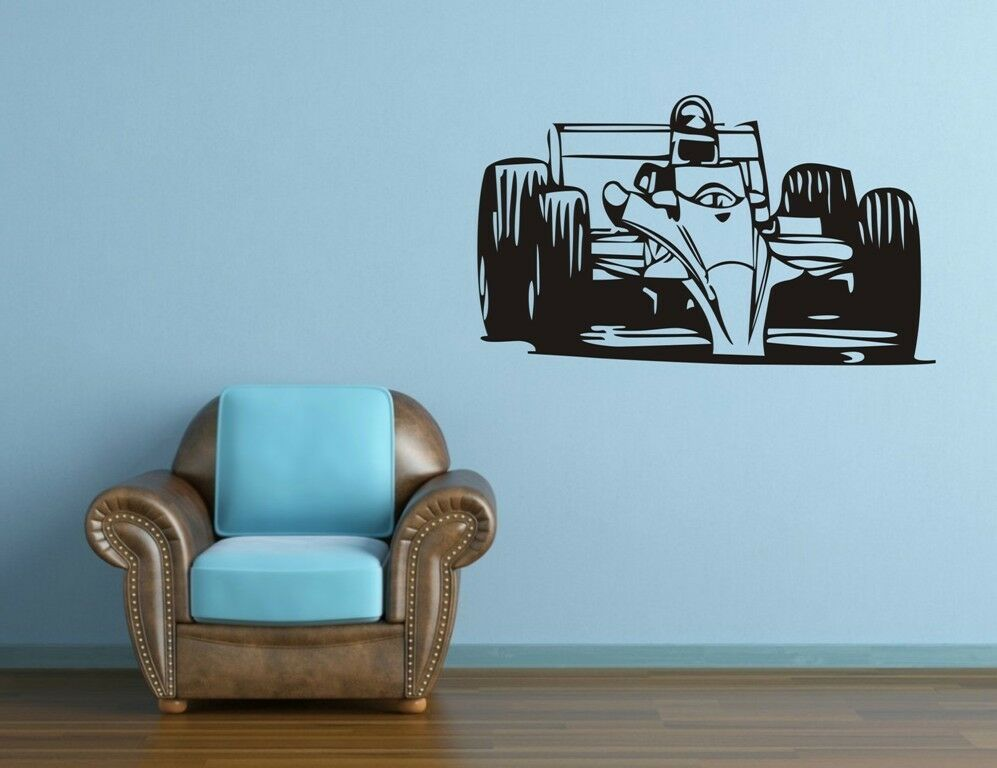 One large racing car wall decor removable vinyl decal for Amazing race car wall decals