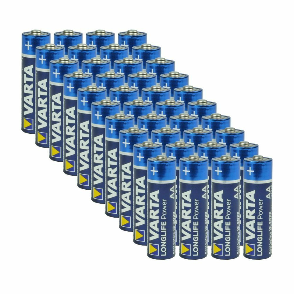 varta aa alkaline batteries 40 pack new aa alk 40pk ebay. Black Bedroom Furniture Sets. Home Design Ideas