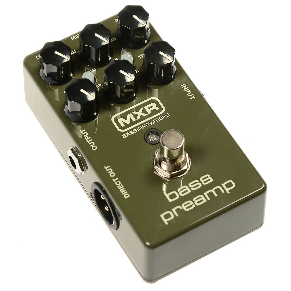 mxr m81 bass preamp bass guitar effect pedal with di output brand new ebay