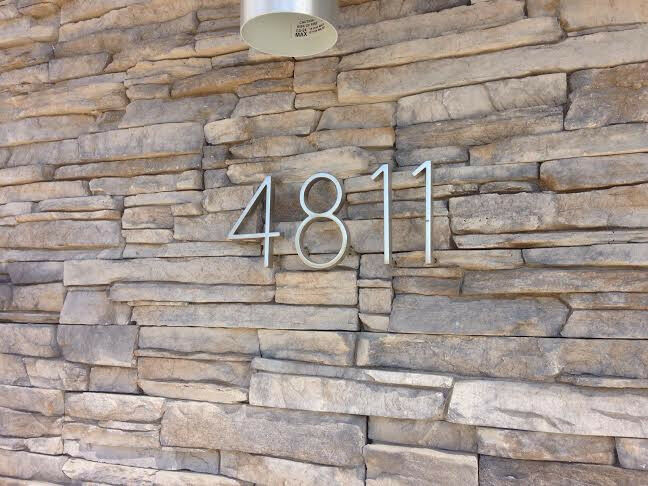 Brushed Metal Steel Mid Century Modern Style Address