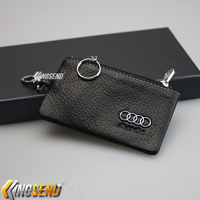 Audi Key Bag Holder 100 Genuine Cow Leather Remote Cover