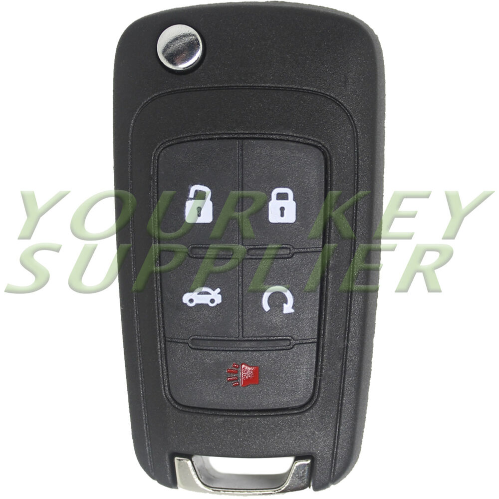 brand new uncut 5 button keyless remote flip key fob w. Black Bedroom Furniture Sets. Home Design Ideas