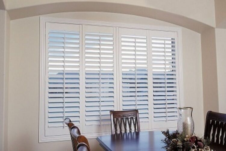 custom made white plantation faux poly shutter bi fold 4 On indoor wood shutters white