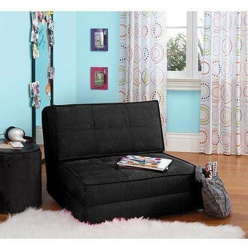 Fold Down Chair Flip Out Lounger Convertible Sleeper Bed Couch Game Dorm Gues
