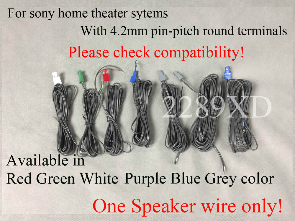 1 OEM Speaker Wire/cable fr Sony DVD/Blu-ray Home theater HTIB (4.2 ...