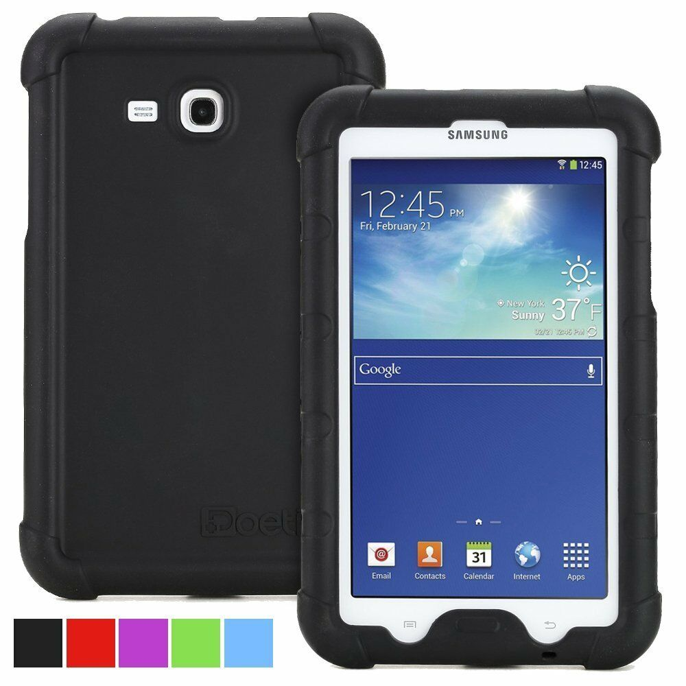 samsung galaxy tab 3 lite 7 0 sm t110 poetic turtle skin rugged silicone case ebay. Black Bedroom Furniture Sets. Home Design Ideas