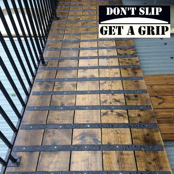 Anti Slip Timber : Anti slip grip strips for slippery timber decking
