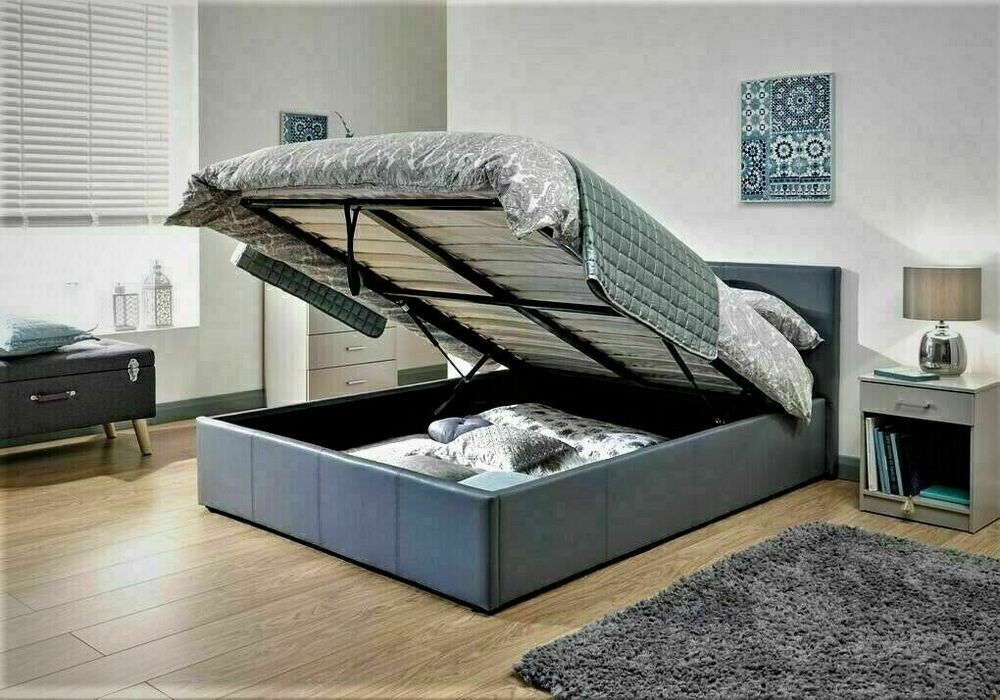 Side Lift Up Bed Storage : Siesta ottoman storage gas lift up bed ft