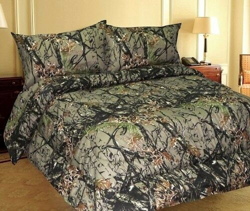 All Sizes Bed Sheets Woodland Forest Camo Microfiber