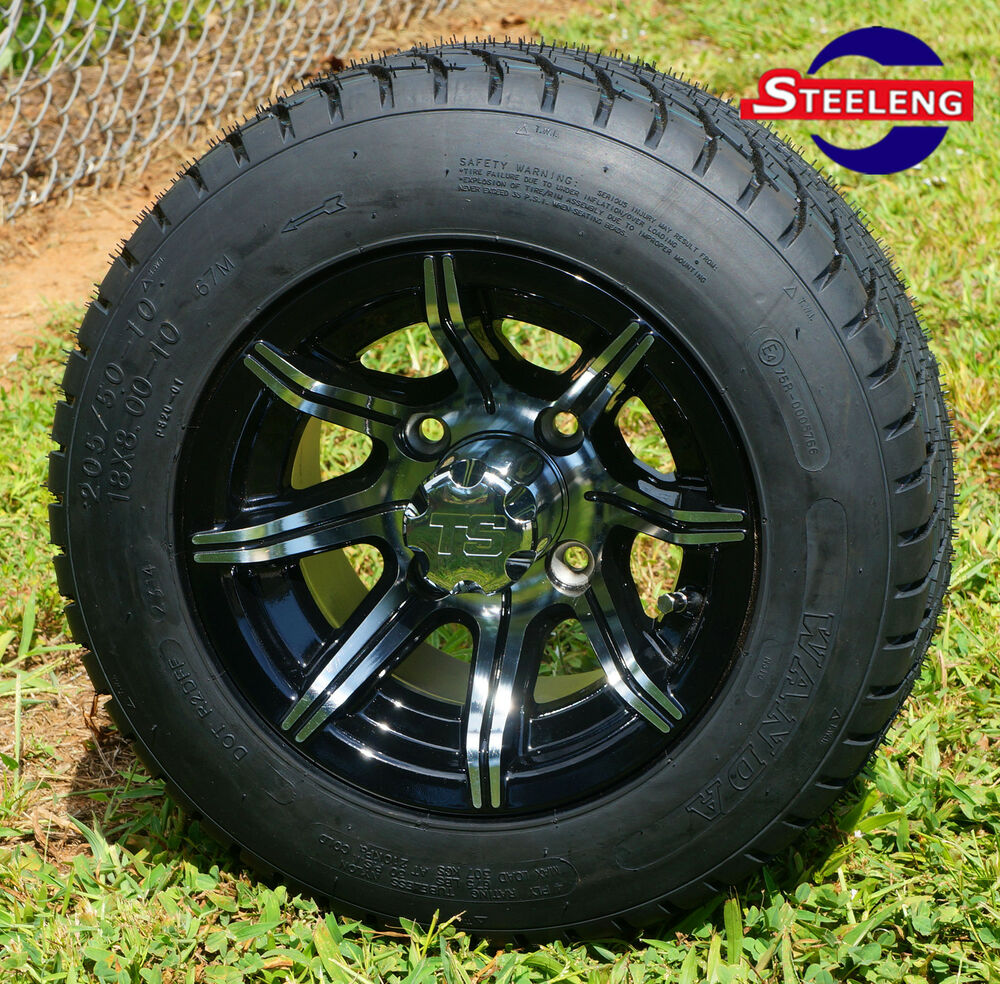 10 Inch Wheels For Golf Cart : Golf cart quot machined spider wheels and  low