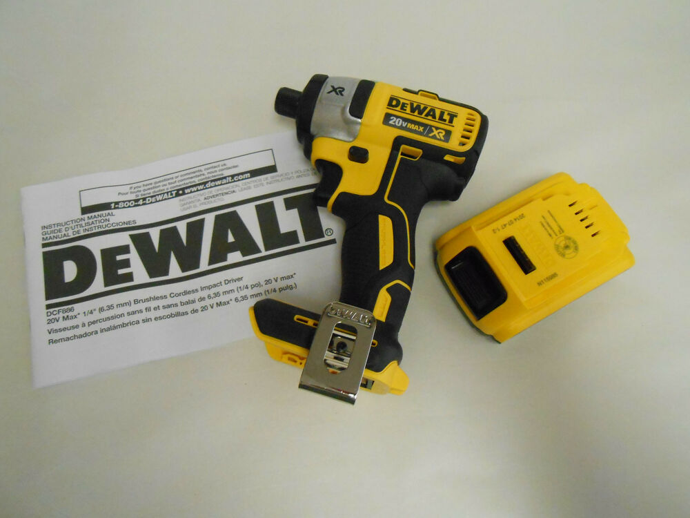 New dewalt dcf886 20v max xr brushless 1 4 impact driver for Dewalt 20v brushless motor