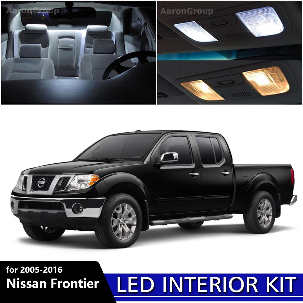 5PCS White Interior LED Light Package Kit For 2005