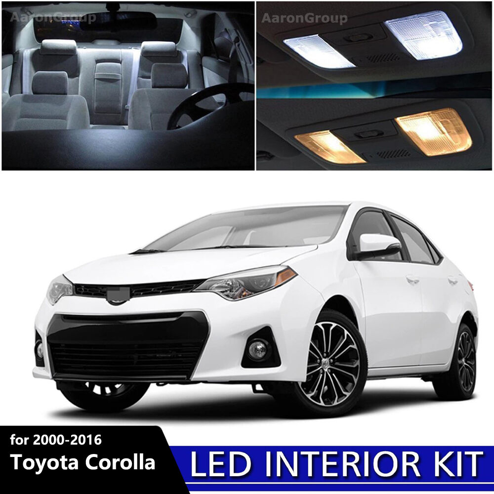 8pcs White Interior Led Light Package Kit For 2000 2016 Toyota Corolla Ebay