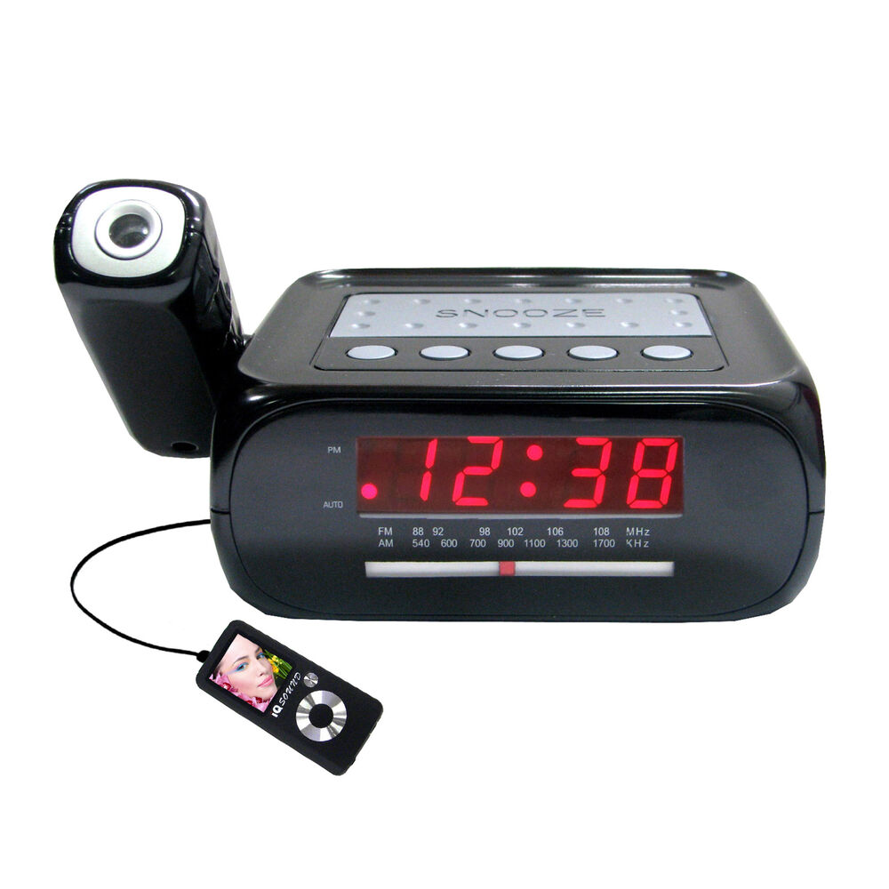 supersonic sc 371 digital projection alarm clock with am fm radio new 639131003712 ebay. Black Bedroom Furniture Sets. Home Design Ideas