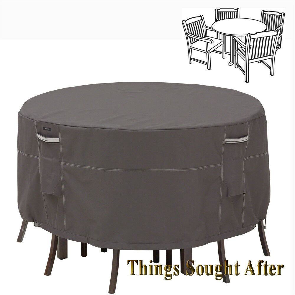 COVER for SMALL ROUND PATIO TABLE & CHAIR SET Outdoor Furniture Picnic RA