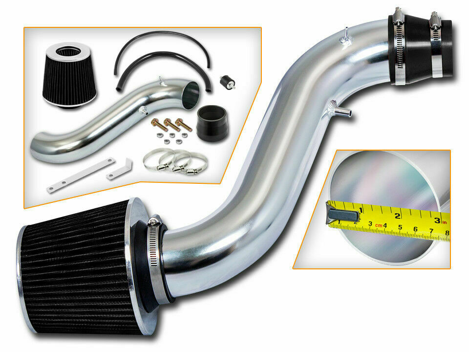 short ram air intake kit  black filter for 90