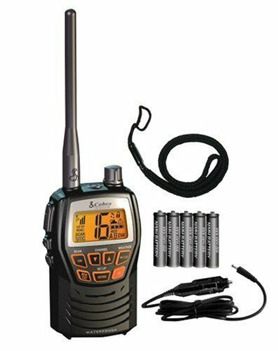 Cobra Compact Waterproof Marine Handheld Vhf Radio Weather Safe Boating Portable | eBay