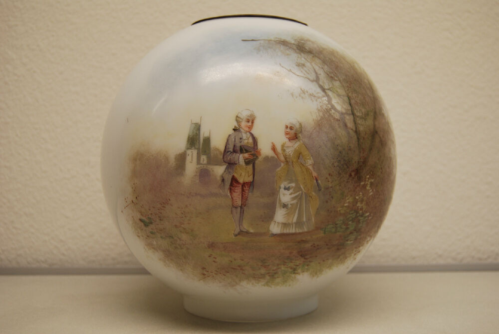 Hand Painted Antique Oil Lamps