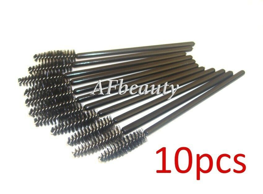10x disposable mascara brushes black wands for eyelash for Disposable mascara wands