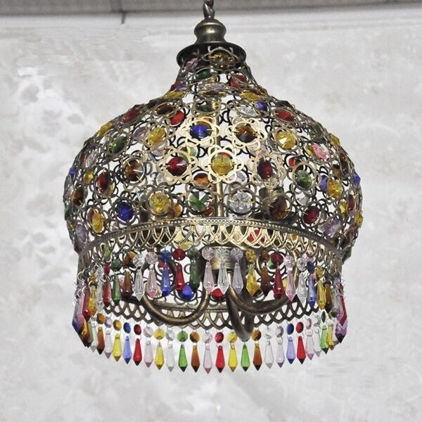 Modern Colorful Crystal Ceiling Light Pendant Lamp Fixture ...