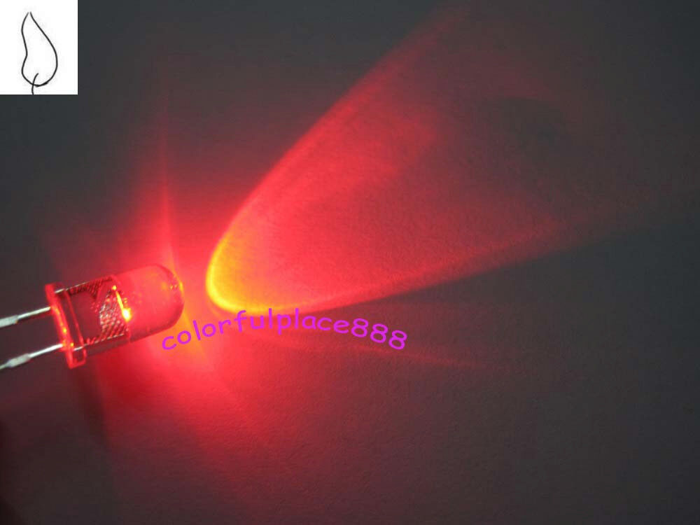 100pcs 5mm Red Candle Flicker Ultra Bright Flickering Led