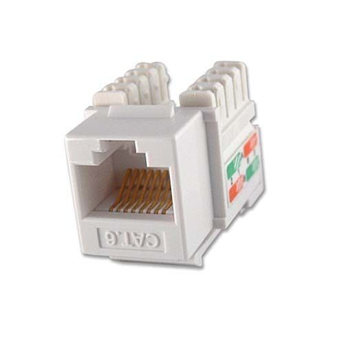Eagle Cat6 Keystone Jack Insert White Rj 45 110 Punch Down