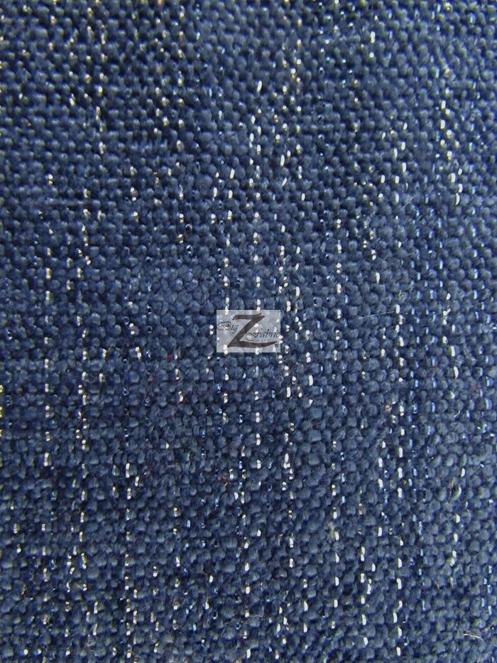 sparkle chenille upholstery fabric navy blue 57 width sold by the yard ebay. Black Bedroom Furniture Sets. Home Design Ideas