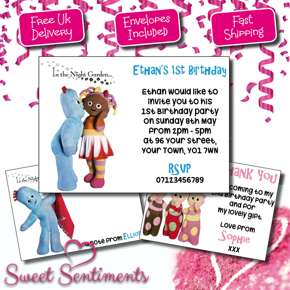 In The Night Garden Personalised Birthday Party Invitations ...