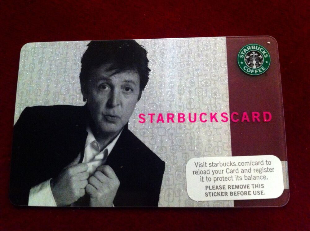 starbucks paul taiwan gift coffee card match sleeve rare