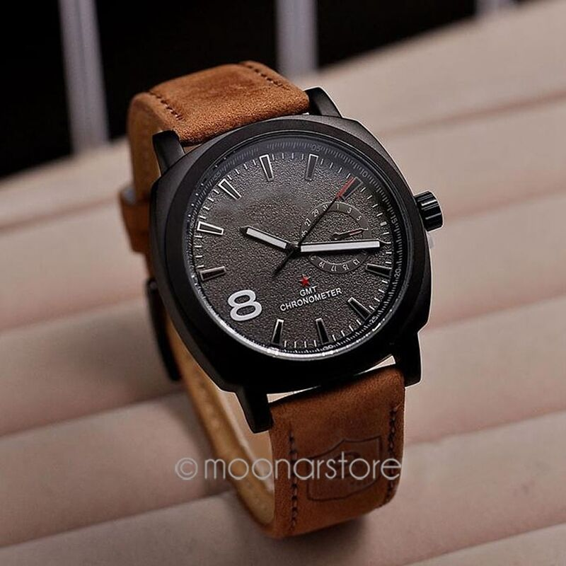 fashion style army s watches leather