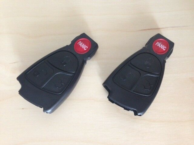 2 x mercedes benz remote keyless fob case with panic for Mercedes benz c230 battery replacement
