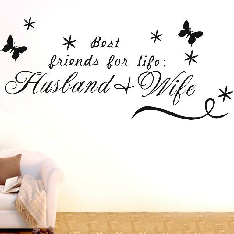 Husband And Wife Wall Quotes Decal Removable Stickers
