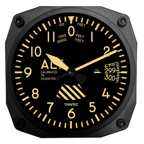 Trintec Vintage Aircraft Altimeter Aviation 6 Quot Wall