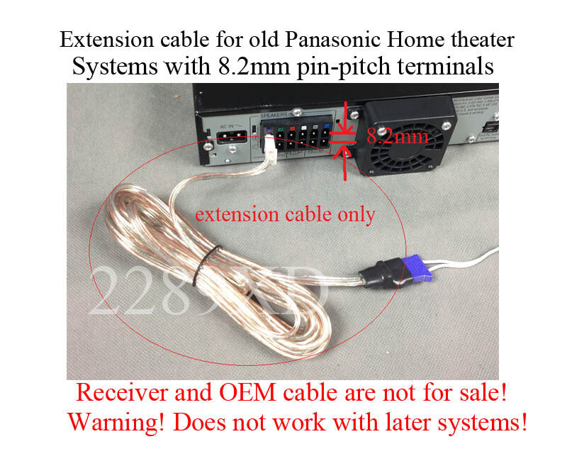 12ft speaker extension cable/wire/cord fits old Panasonic Home ...