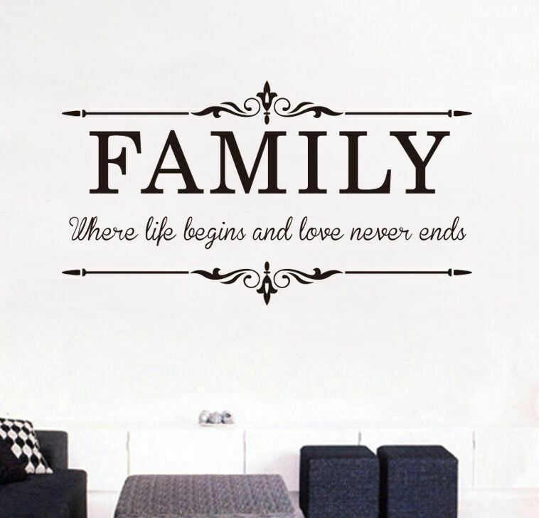 Family & Love Removable Wall Stickers Wall Quotes Art