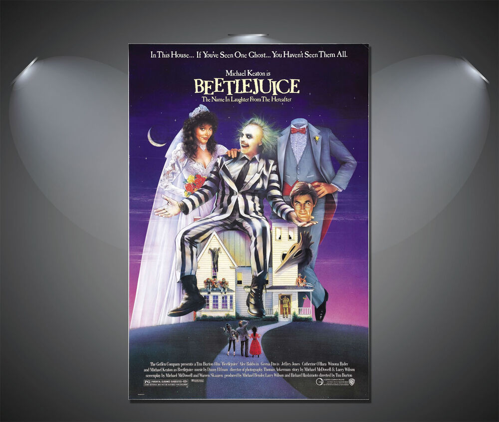 Beetlejuice Vintage Movie Poster - A1, A2, A3, A4 Sizes | eBay