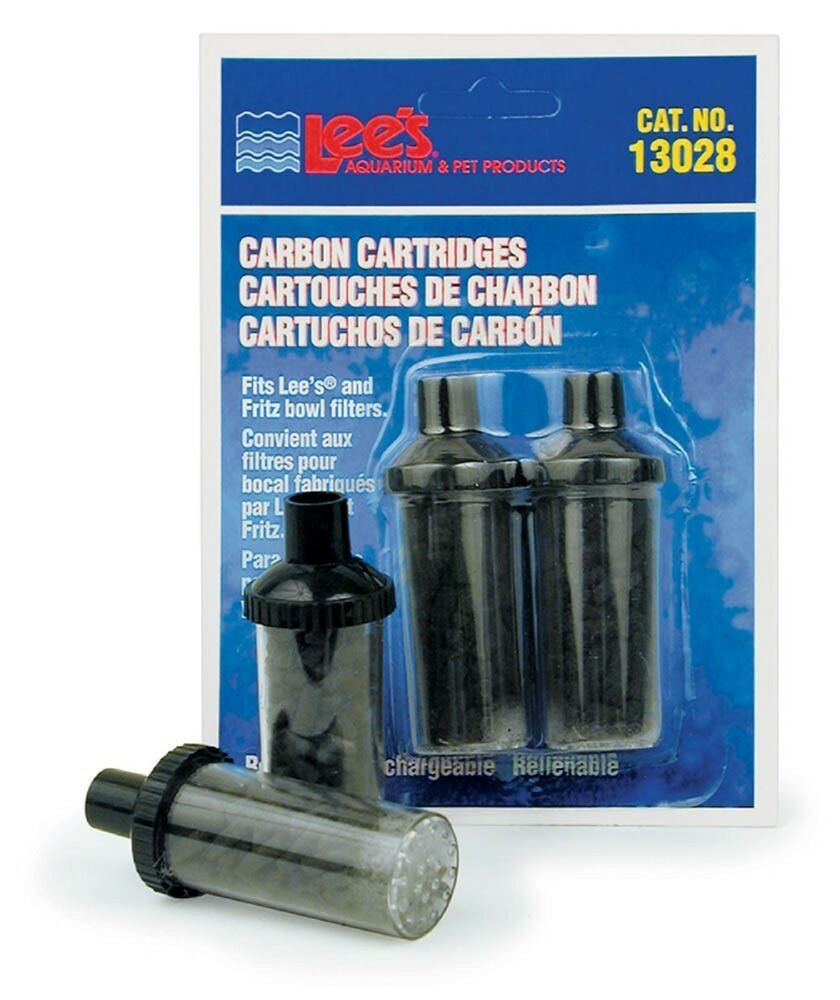 Lee 39 s carbon cartridge bowl filters disposable 2pk ebay for Charcoal fish tank filter
