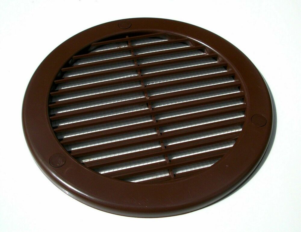 brown circle air vent grille 4 5 6 wall ceiling ventilation cover duct flange ebay. Black Bedroom Furniture Sets. Home Design Ideas