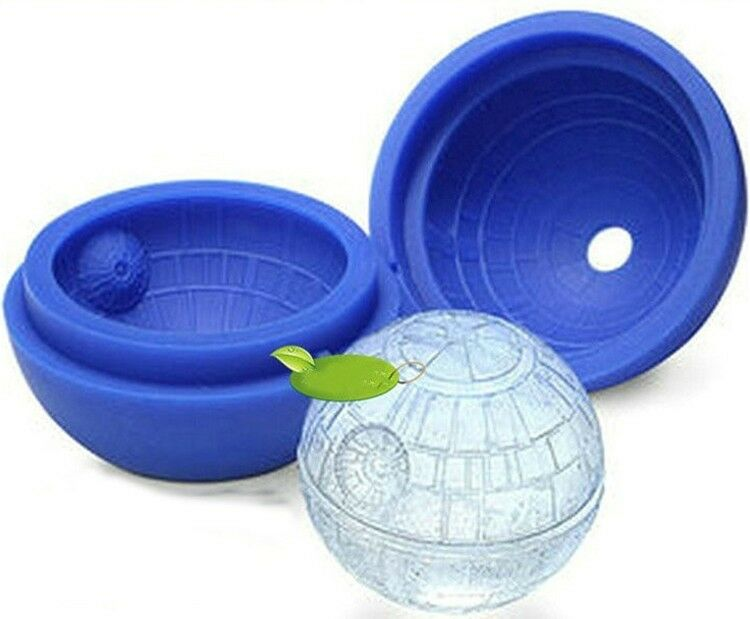 silicone star wars death star round ice cube tray desert sphere mold moulds blue ebay. Black Bedroom Furniture Sets. Home Design Ideas