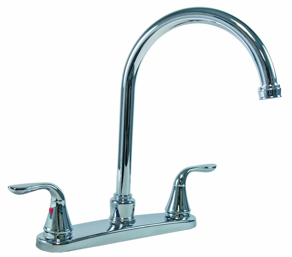 Handle Kitchen Faucet w/ 8