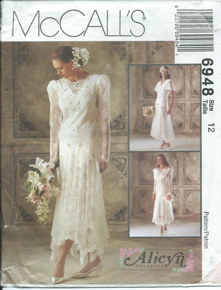 M 6948 Sewing Pattern EXQUISITE Wedding DRESS Bridal GOWN Sew Alicyn 12 STUNNING