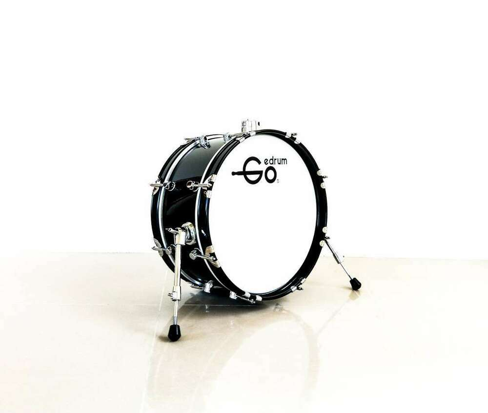 18 inch electronic bass drum with stand without pedal 18 kick drum mesh head ebay. Black Bedroom Furniture Sets. Home Design Ideas