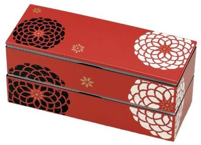 new bento lunch box red japanese traditional design special japan ebay. Black Bedroom Furniture Sets. Home Design Ideas