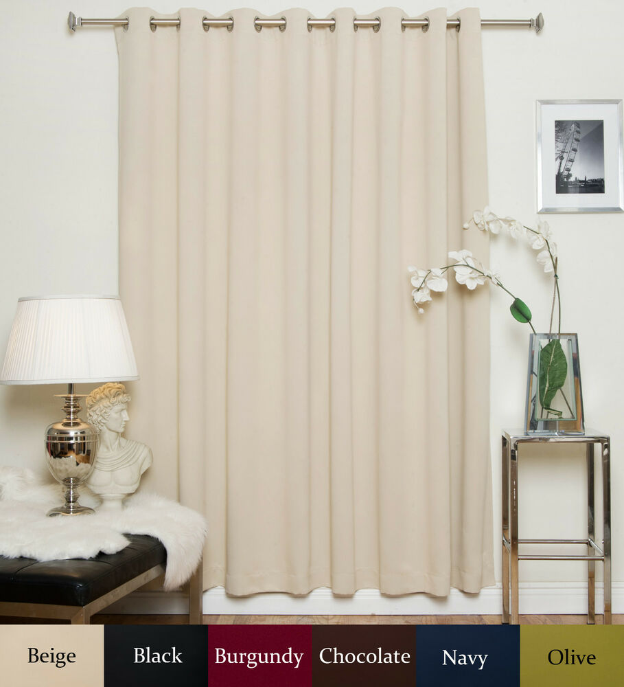 wide width nickel grommet top blackout curtain 100 inch by 108 inch panel ebay. Black Bedroom Furniture Sets. Home Design Ideas